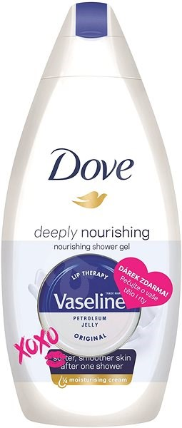 DOVE Deeply Nourishing 500 ml + Dárek Vaseline Lip Therapy balzám na rty 20 g - Sprchový gel