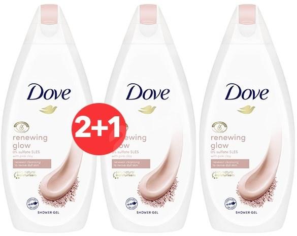 Dove Renewing Glow Pink Clay Shower Gel 500 ml 2+1 - Sprchový gel