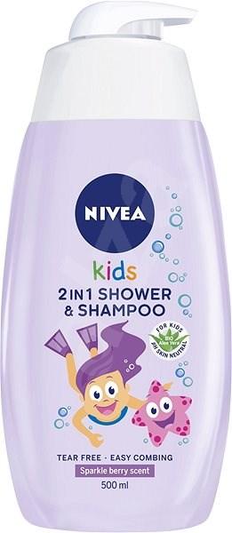 NIVEA Kids 2in1 Shower & Shampoo Girl 500 ml  - Dětský sprchový gel