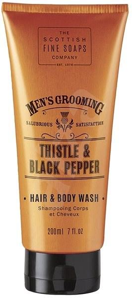 SCOTTISH FINE SOAPS Men's Grooming Thistle & Black Pepper Hair & Body Wash 200 ml - Pánský sprchový gel