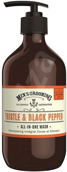 SCOTTISH FINE SOAPS Men's Grooming Thistle & Black Pepper All-in-One Wash 500 ml - Pánský sprchový gel