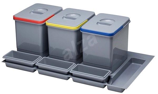 SINKS PRACTIKO 900 3x12 l + 3x miska - Odpadkový koš