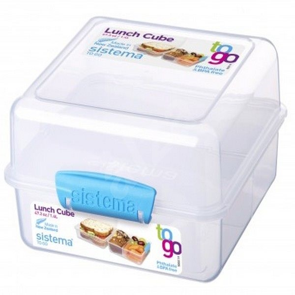 SISTEMA 1.4L Lunch Cube To Go Blue Online Range - Svačinový box