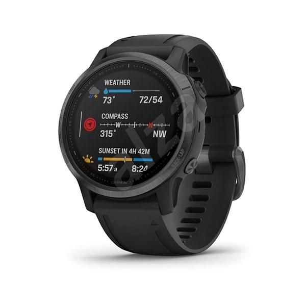 Garmin Fenix 6S Sapphire Carbon Gray DLC/Black Band - Chytré hodinky