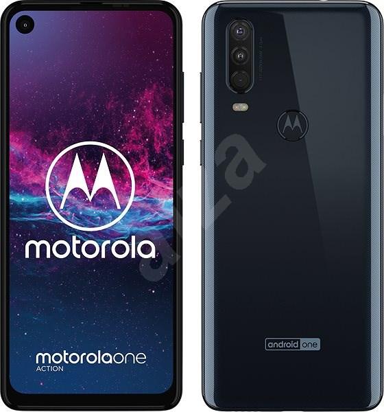 Motorola One Action modrá - Mobilní telefon