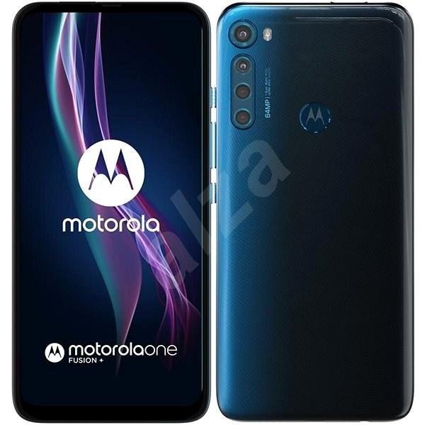 Motorola One Fusion+ modrá - Mobilní telefon