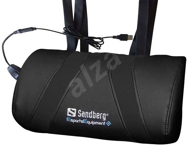 Sandberg Herní USB masážní polštář černý - Masážní poduška