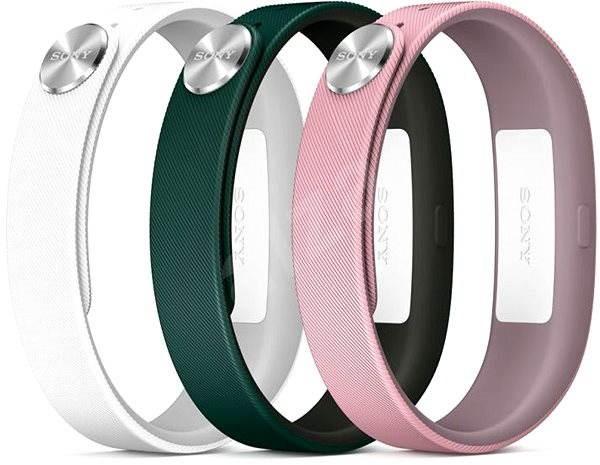 Sony SWR110 Classic vel. S bílá, světle růžová, tmavě zelená  - Řemínek