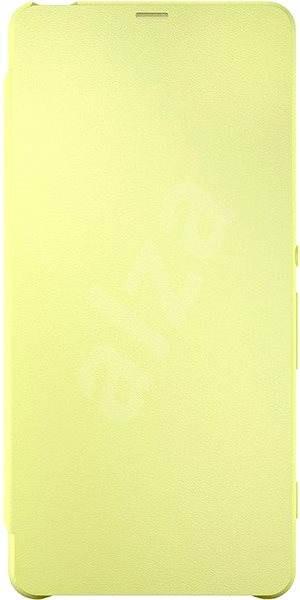 Sony Style Cover Flip SCR54 Lime Gold - Pouzdro na mobilní telefon