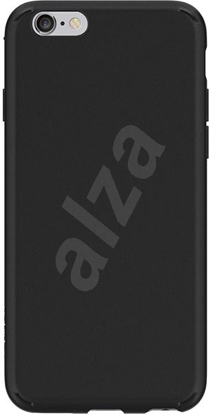 Spigen Liquid Crystal Matte Black iPhone 6s/6 - Kryt na mobil