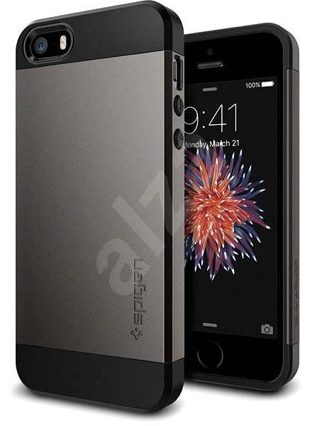 SPIGEN Slim Armor Gunmetal iPhone SE/5s/5 - Kryt na mobil