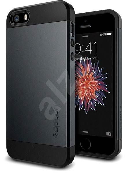 SPIGEN Slim Armor Metal Slate iPhone SE/5s/5 - Kryt na mobil