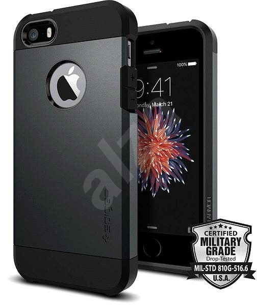 SPIGEN Tough Armor Metal Slate iPhone SE/5s/5 - Kryt na mobil