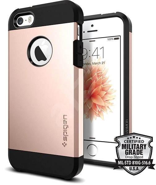 SPIGEN Tough Armor Rose Gold iPhone SE/5s/5 - Kryt na mobil