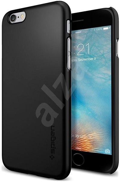 SPIGEN Thin Fit Black iPhone 6/6S - Kryt na mobil