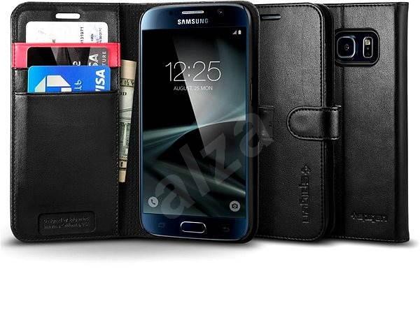 SPIGEN Wallet S Black Samsung Galaxy S7 - Pouzdro na mobil