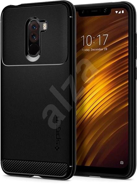 Spigen Rugged Armor Black Xiaomi Pocophone F1 - Kryt na mobil