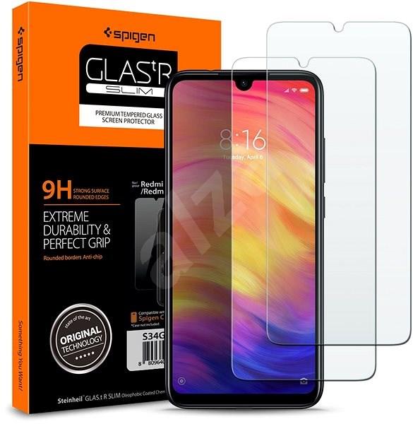 Spigen Glas.tR SLIM 2 Pack Xiaomi Redmi Note 7 - Ochranné sklo