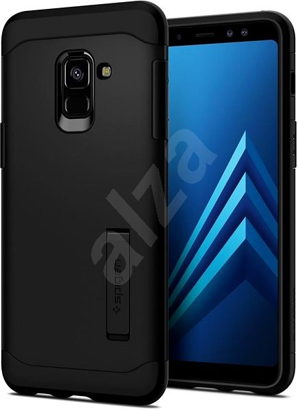 Spigen Slim Armor Black Samsung Galaxy A8 (2018) - Kryt na mobil
