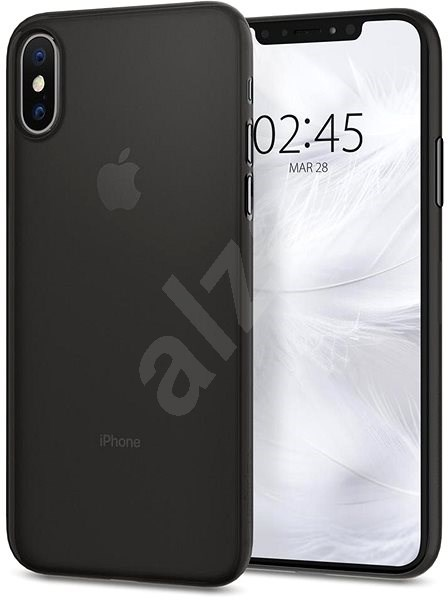 Spigen Air Skin Black iPhone XS/X - Kryt na mobil