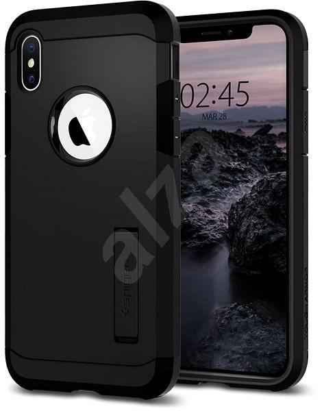Spigen Tough Armor Black iPhone XS/X - Kryt na mobil