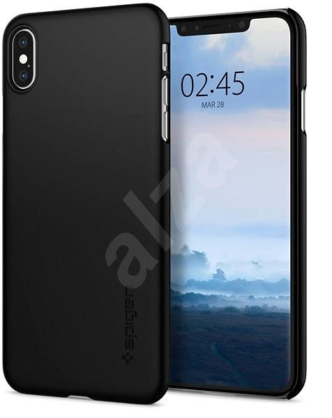 Spigen Thin Fit Black iPhone XS Max - Kryt na mobil