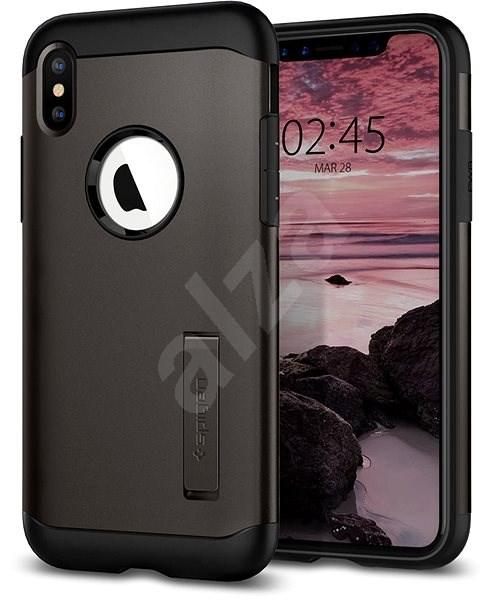 Spigen Slim Armor Gunmetal iPhone XS Max - Kryt na mobil  65763217f2e