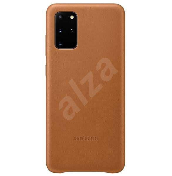 Samsung  Kožený zadní kryt pro Galaxy S20+ hnědý - Kryt na mobil