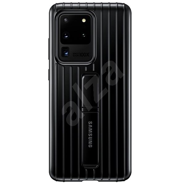 Samsung  Tvrzený ochranný zadní kryt se stojánkem pro Galaxy S20 Ultra černý - Kryt na mobil