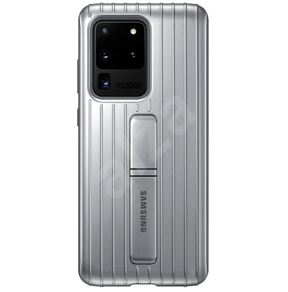 Samsung  Tvrzený ochranný zadní kryt se stojánkem pro Galaxy S20 Ultra stříbrný - Kryt na mobil