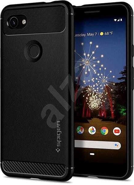 Spigen Rugged Armor Black Google Pixel 3a - Kryt na mobil