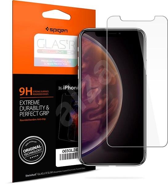 Spigen Glass Glas.tR Slim HD iPhone XS Max - Ochranné sklo