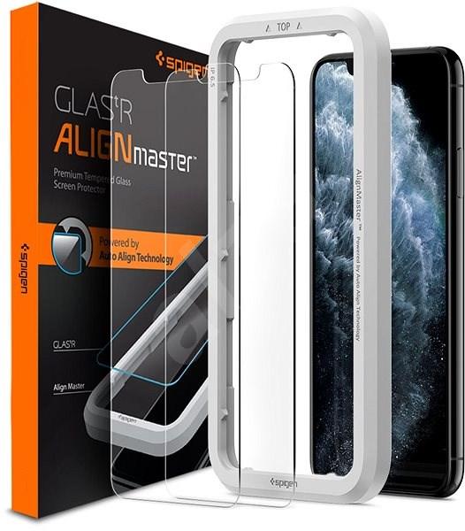 Spigen Align Glas.tR 2 Pack iPhone 11 Pro Max/XS Max - Ochranné sklo