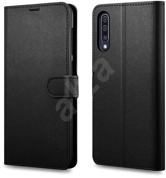 Spigen Wallet S Black Samsung Galaxy A50/A30s - Pouzdro na mobilní telefon