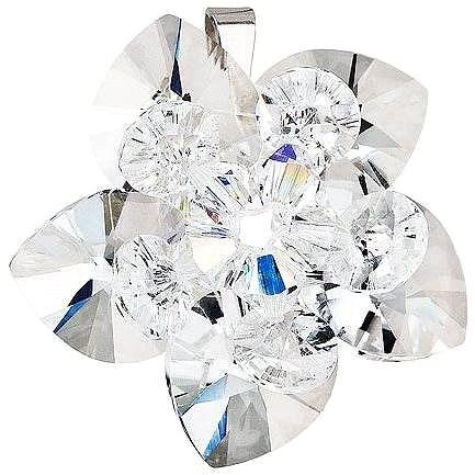 EVOLUTION GROUP Květina dekorovaná krystaly Swarovski 34072.1 (925/1000; 4 g, bílá) - Přívěsek