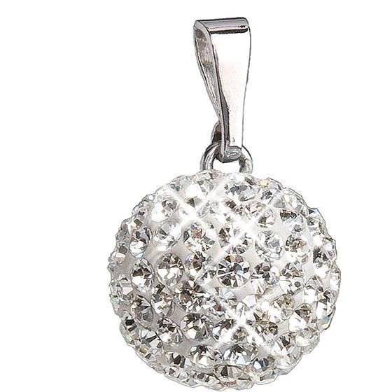 EVOLUTION GROUP Krystal přívěsek koule dekorovaný krystaly Swarovski  34080.1 (925 1000  1 02b96419bb9
