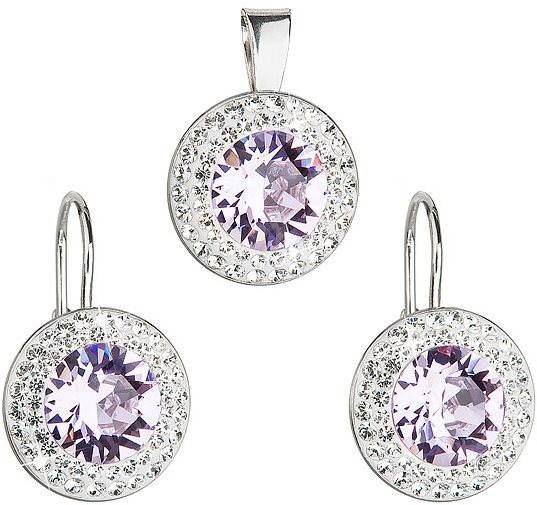 Violet Rivoli Set Decorated With Swarovski Elements Crystals (925/1000; 5g) - Jewellery Gift Set