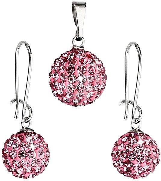 7d8fb01e041 EVOLUTION GROUP Bižuterní set s kamínky 59072.3 Rose - Dárková sada šperků