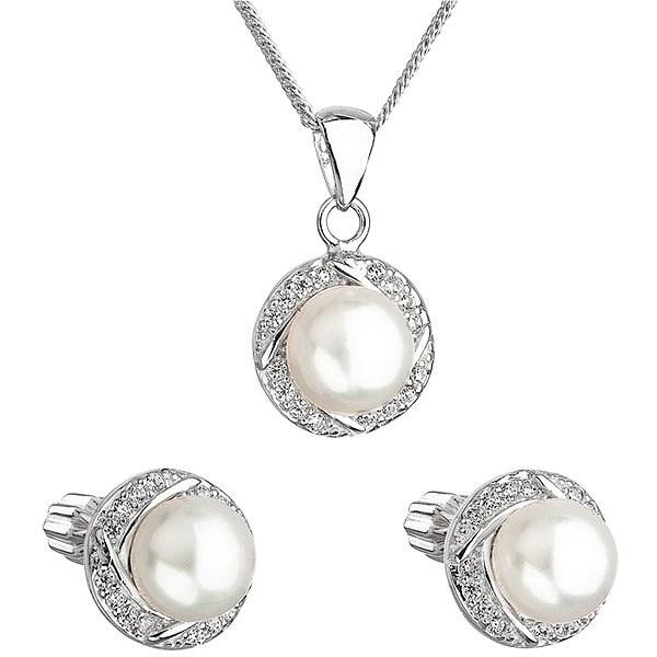 EVOLUTION GROUP 29004.1 stříbrná perlová souprava s řetízkem (925 1000 7af4e6f52d7