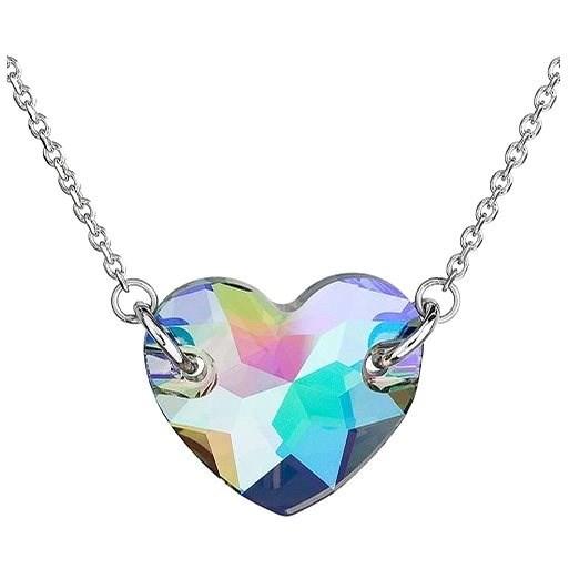 EVOLUTION GROUP Paradise shine srdce dekorované krystaly Swarovski  32020.5 (Ag925/1000, 3,7 g, zele - Náhrdelník