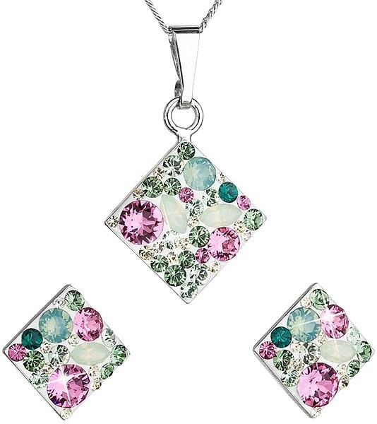 EVOLUTION GROUP 39126.3 chrysoliteset decorated with Swarovski crystals - Jewellery Gift Set