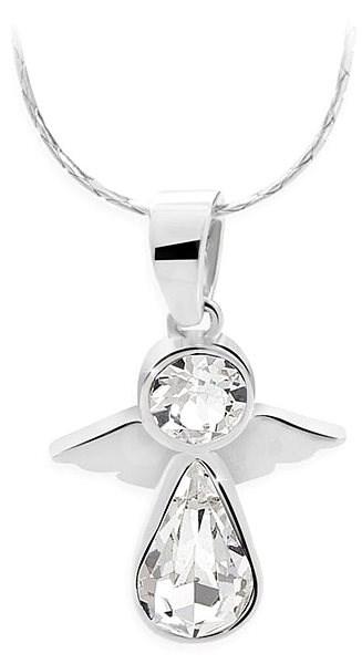 JSB Bijoux Anděl s křišťálovými kameny Swarovski® (bílý) - Náhrdelník