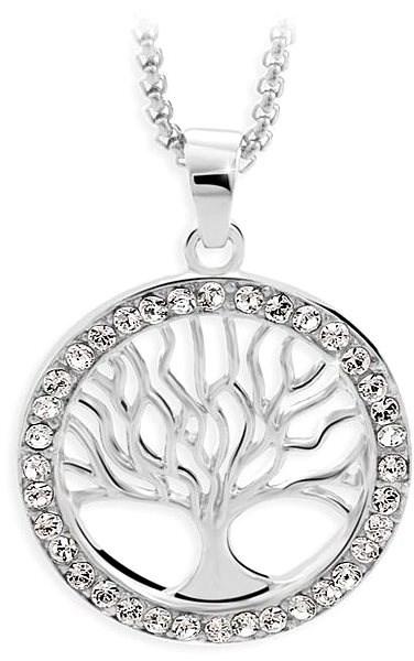 JSB Bijoux Strom života s křišťálovými kameny Swarovski® (bílý) - Náhrdelník