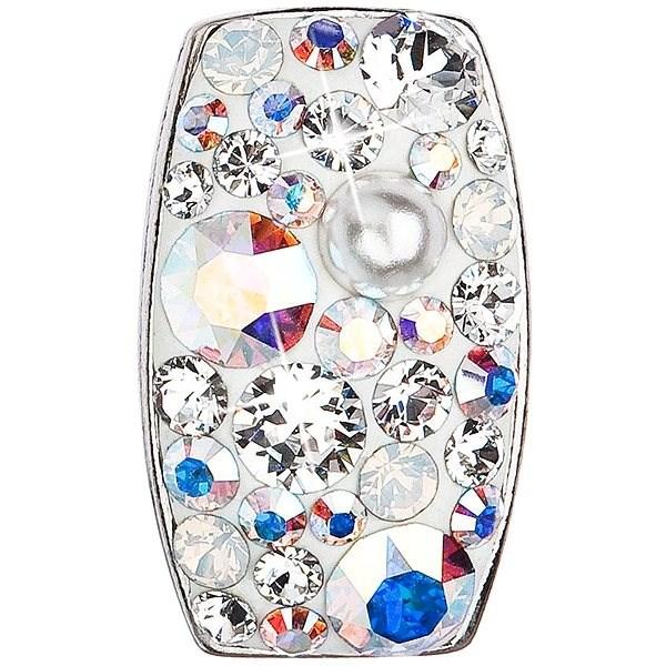 EVOLUTION GROUP 34194.9 obdélník paradise shine dekorovaný krystaly Swarovski® s AB efektem (925/100 - Přívěsek