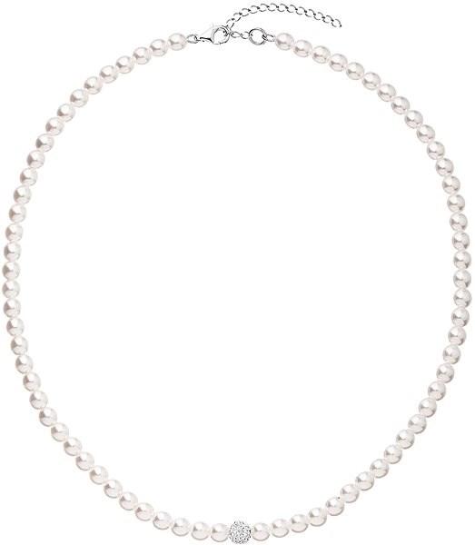 EVOLUTION GROUP 32063.1 perlový, dekorovaný krystaly Swarovski® (Ag925/1000, 1 g, bílý) - Náhrdelník