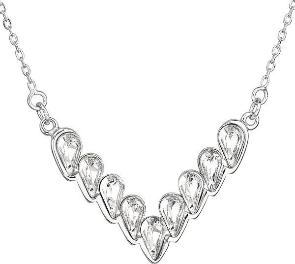 EVOLUTION GROUP 32067.1 dekorovaný krystaly Swarovski® ( 925/1000, 3,7 g, bílý) - Náhrdelník