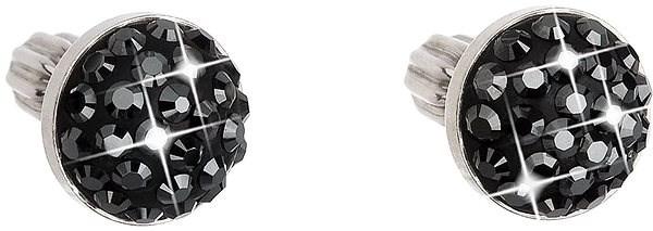 EVOLUTION GROUP 31336.5 hematite s krystaly Swarovski® (stříbro 925/1000; 1 g) - Náušnice