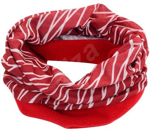 Šátek s fleecem červeno bílý - Šátek