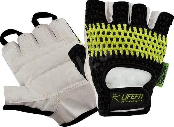 Lifefit Fit černo/zelené vel. XL - Rukavice