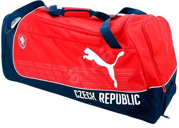 Puma Czech Republic Large Wheel Bag red white - Sportovní taška ... 0d85329209